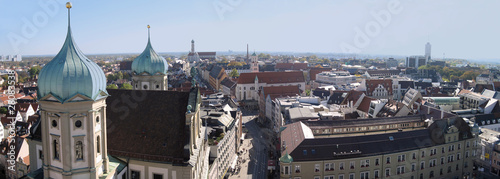 Augsburg City mit St. Peter Panorama Canvas Print