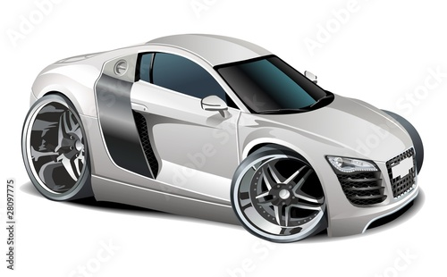 Staande foto Cartoon cars Vector modern cartoon car