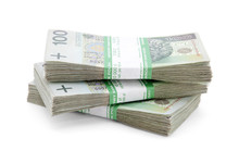 Stack Of Polish Zloty With Cli...