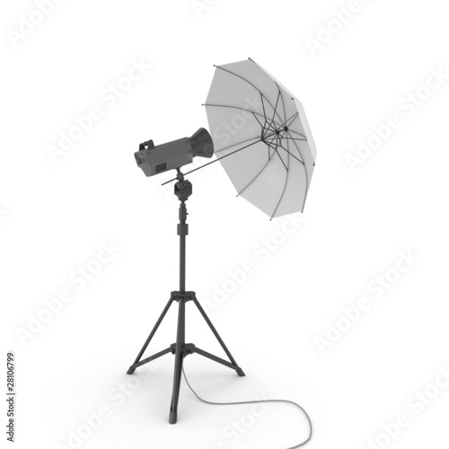 Foto op Canvas Licht, schaduw 3d studio light with umbrella