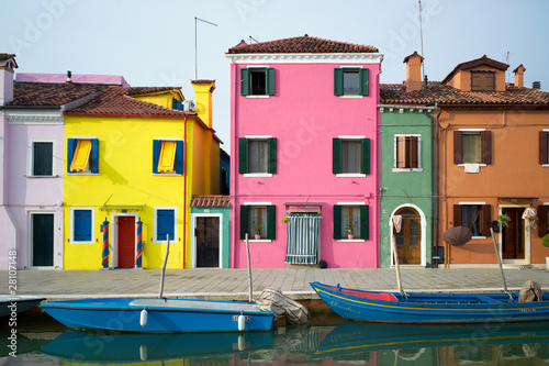 colors of burano Fotobehang