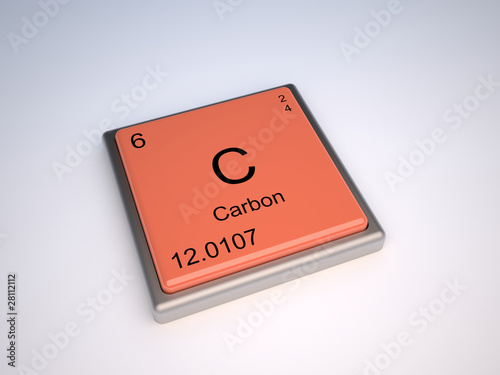 Carbon Chemical Element Of Periodic Table With Symbol C Buy This