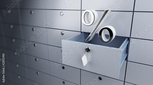 Fototapeta opened empty bank deposit percent obraz