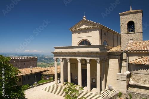 Basilica of  Repubblica di San Marino side view