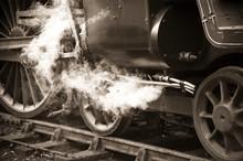 Sepia Toned Vintage Steam Train