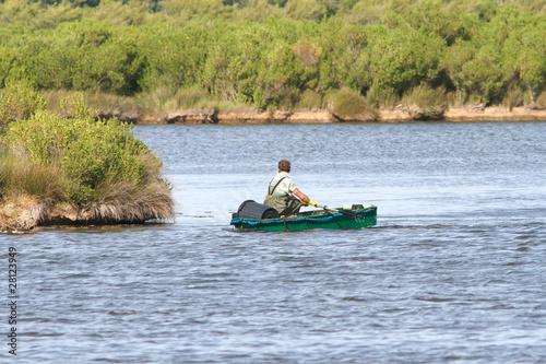 la petite barque verte Poster