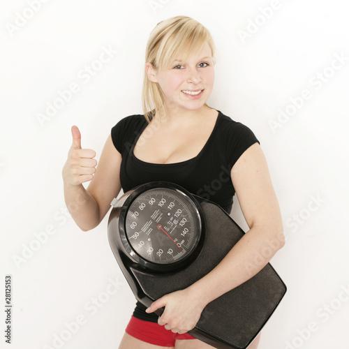 Fotografie, Obraz  Gesund, Fit, Diät, Waage und abnehmen