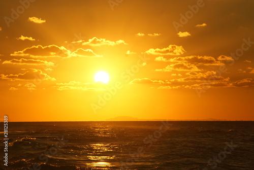 Foto-Schiebegardine Komplettsystem - Sonnenuntergang (von Andreas)