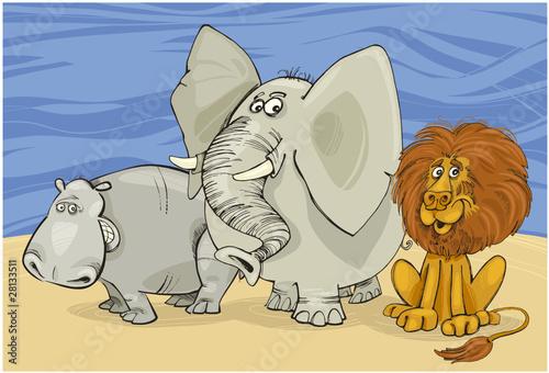 Poster de jardin Zoo african animals
