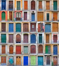 Front Doors Barcelona, Spain -...