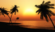 canvas print picture - Ibiza Sunset Chillout Beach 03