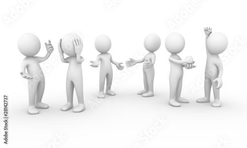 Fotografie, Obraz  Group of people talking