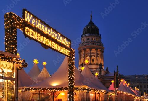 Spoed Fotobehang Berlijn Weihnachtsmarkt am Gendarmenmarkt