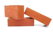 Three Red Clay Bricks Stacked ...