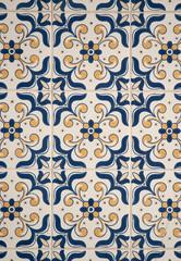 Traditional Portuguese glazed tiles