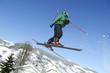 skieur fou