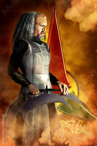 alien warrior Canvas Print