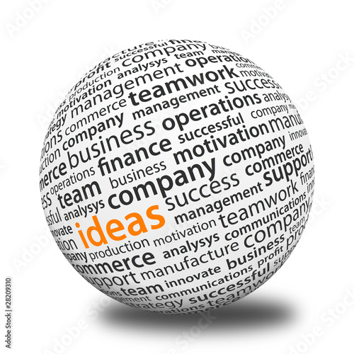 Fotografie, Obraz  Word Ball - Ideas
