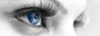 Leinwandbild Motiv Blue Eye - Beautiful, Feminine