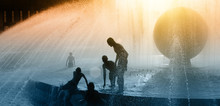 Children Silhouettes Playing I...