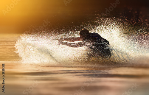 Fotografie, Obraz  Waterskier waterskiing