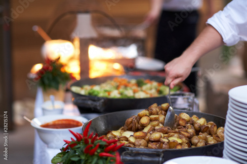 Fotografie, Obraz  Kartoffeln in Pfanne