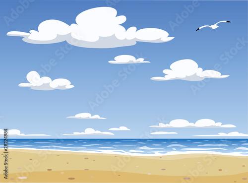 Foto-Schiebegardine Komplettsystem - Beach