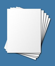 Stacked Blank Paper, Isolated