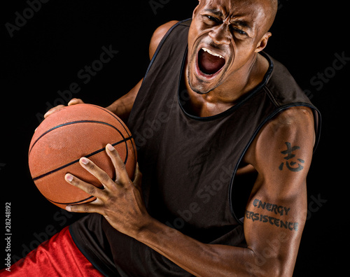 Fotografie, Obraz  Powerful Basketball Player