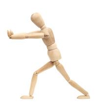 Wooden Figure Walking
