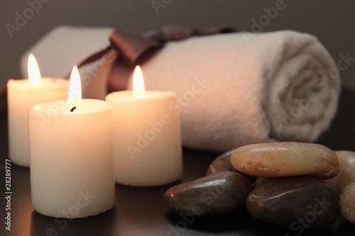 Fotografie, Obraz  candele e spa