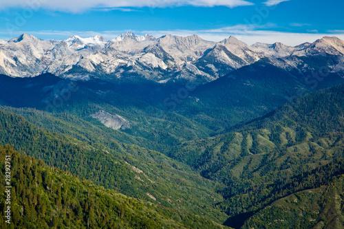 Fotografie, Obraz  Views from Moro Rock in Sequoia National Park, California
