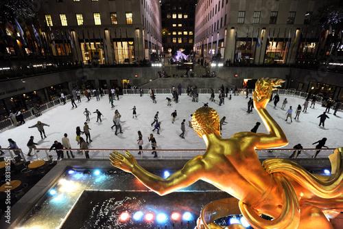 Fotografie, Obraz patinoire NY