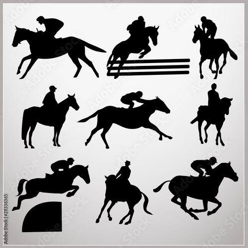 Slika na platnu course chevaux