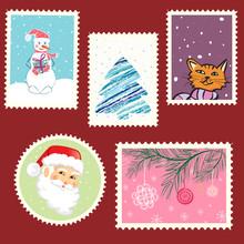 Winter Postage Set