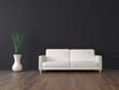 canvas print picture 3d Sofa Rendering dunkelgrau
