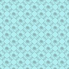 Blue Damask Seamless Wallpaper Pattern