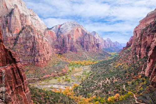 Canvas Prints Natural Park Zion Canyon National Park