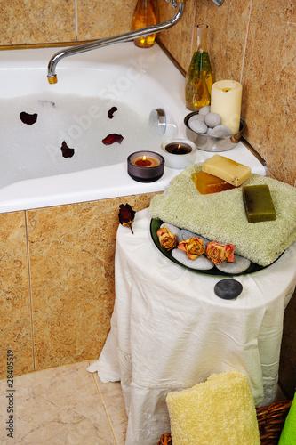 Fotografie, Obraz  spa in home bathroom