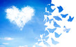 Leinwandbild Motiv cloud heart