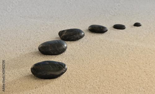 Photo sur Toile Zen pierres a sable zen