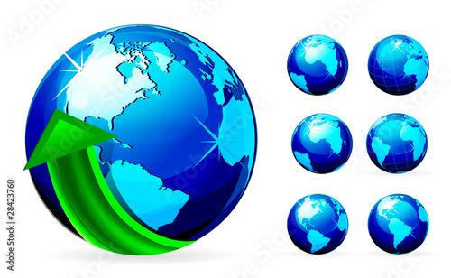 Fotografia Arrow with Globe