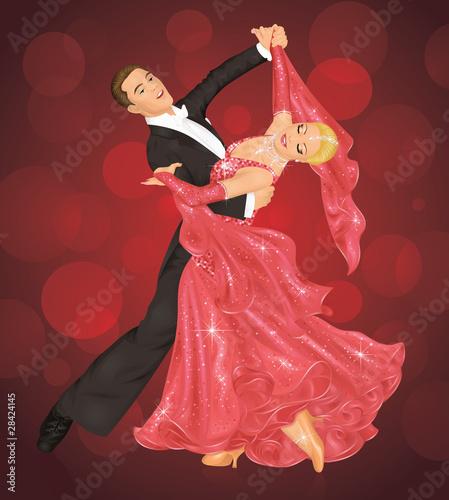 Cuadros en Lienzo Ballroom dance.