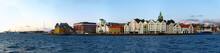 Panoramic View Of The Port In Stavanger, Norway.