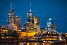 Melbourne City And Yarra River...