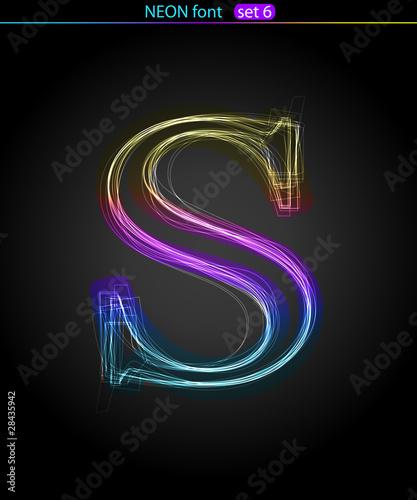 Neon letter S Canvas Print