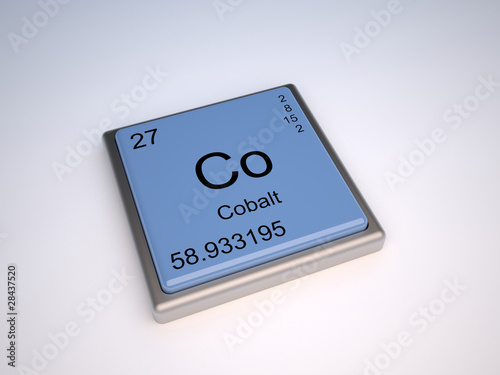 Cobalt Chemical Element Of The Periodic Table With Symbol Co Buy