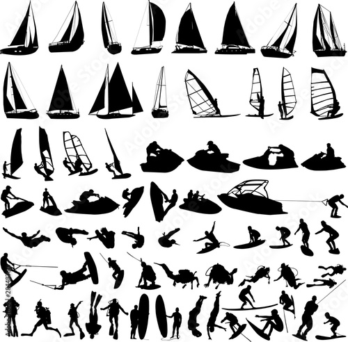 water sports collection - vector #28448360