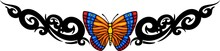The Butterfly With Orange Wing...