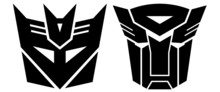 Transformers. Two Signs- Autobot And Desepticon